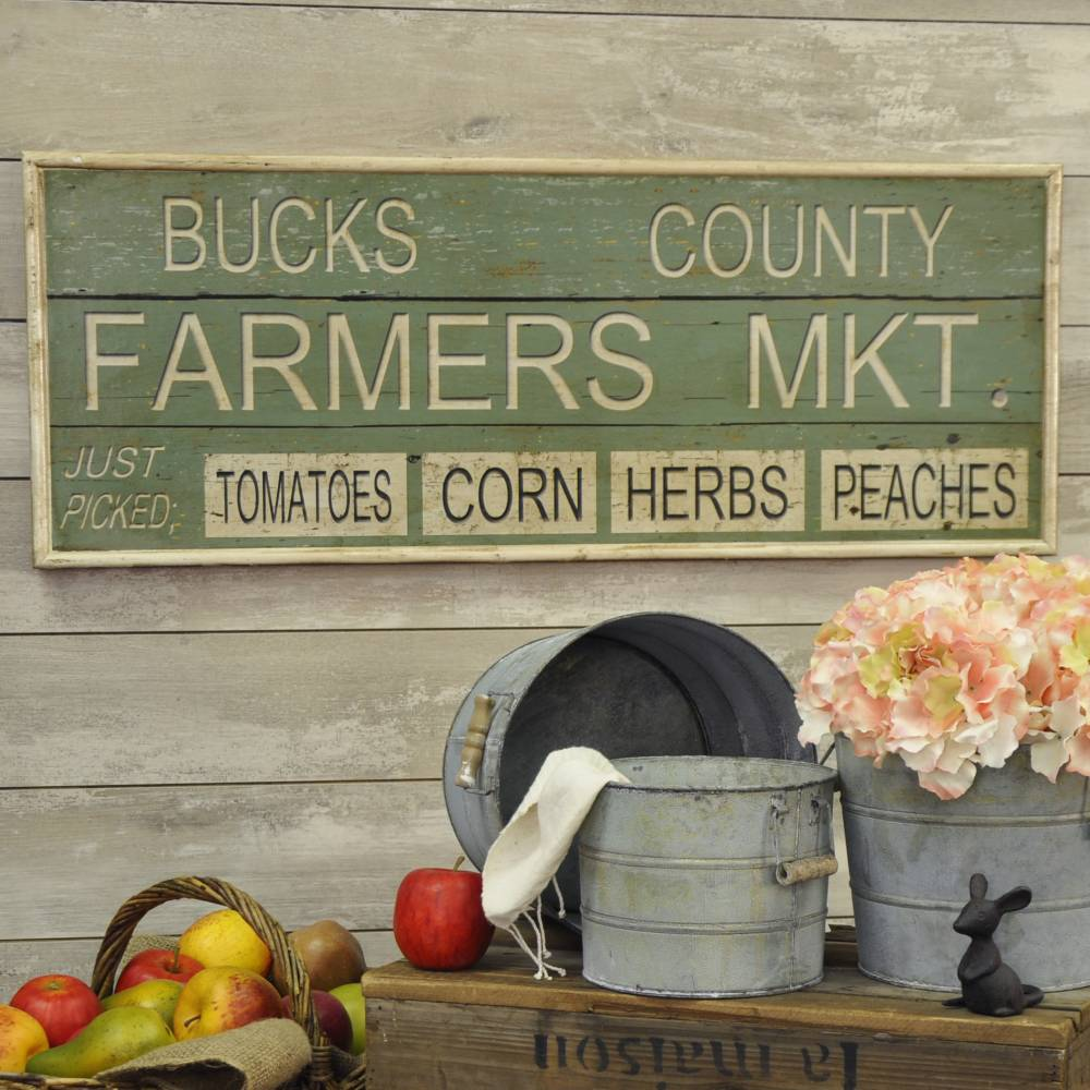 Highlight your farmhouse style with a vintage country sign.