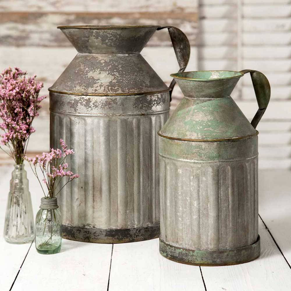 """Nothing says """"farmhouse"""" like galvanized metal - which also happens to be in style at the moment!"""