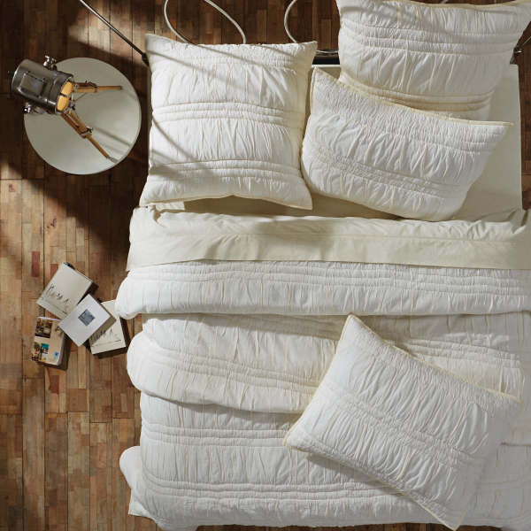 Natasha Pearl White Quilted Bedding