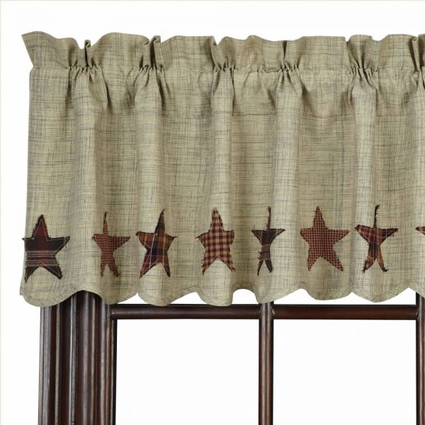 Country Scalloped Valance Curtains Abilene Star 72 Quot
