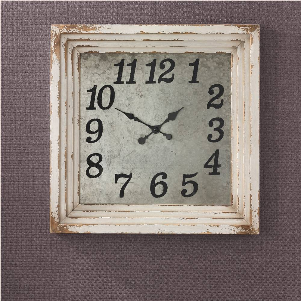 Aged Cream Wall Clock