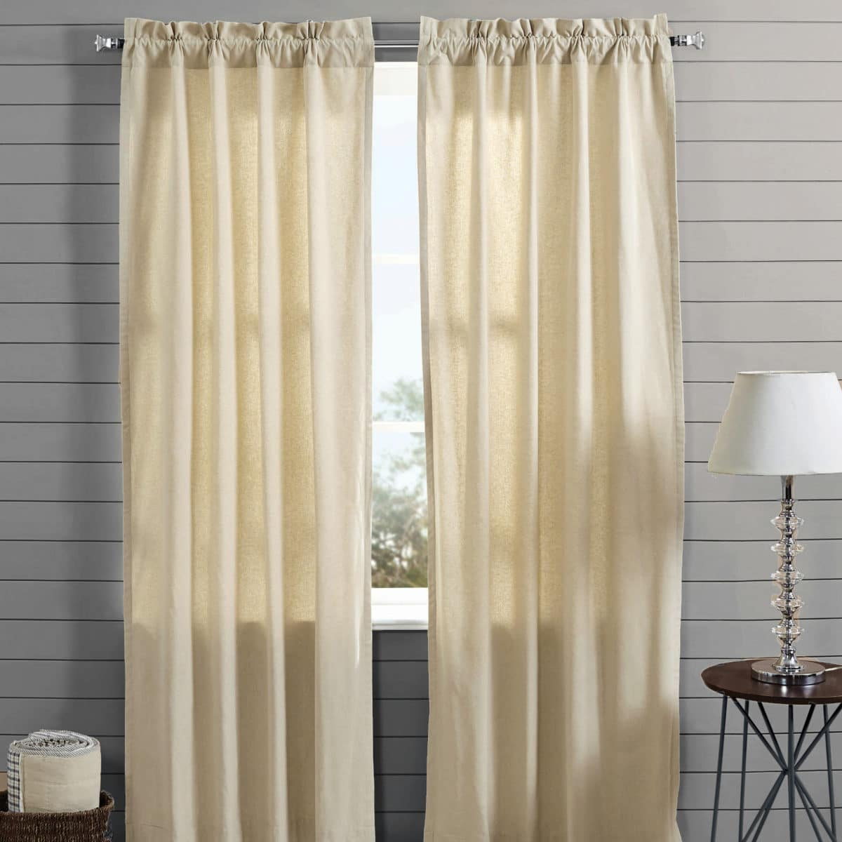 Country Style Curtains Farmhouse Chambray Drapes 84
