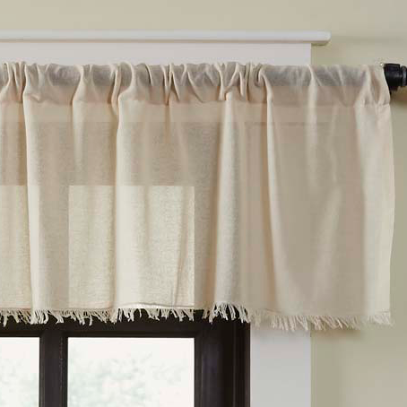 Country Straight Valance Curtains Tobacco Cloth Cotton