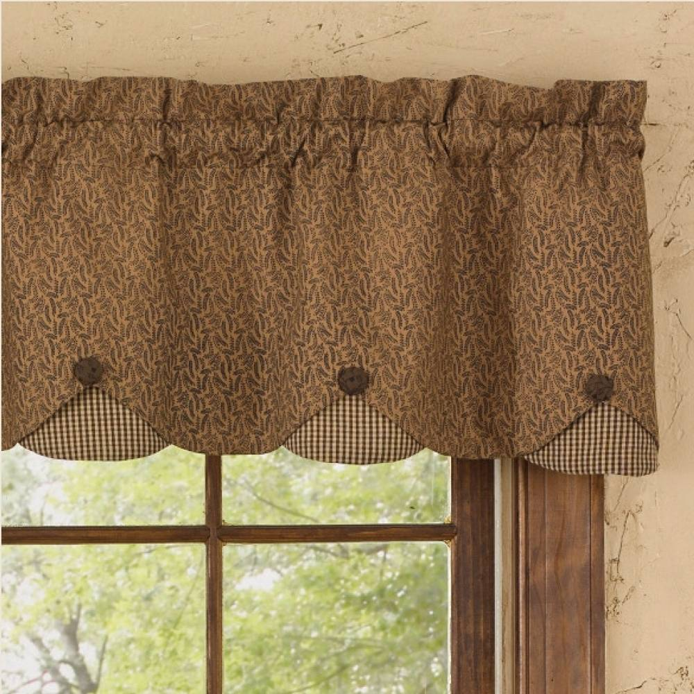 Country Straight Valance Curtains