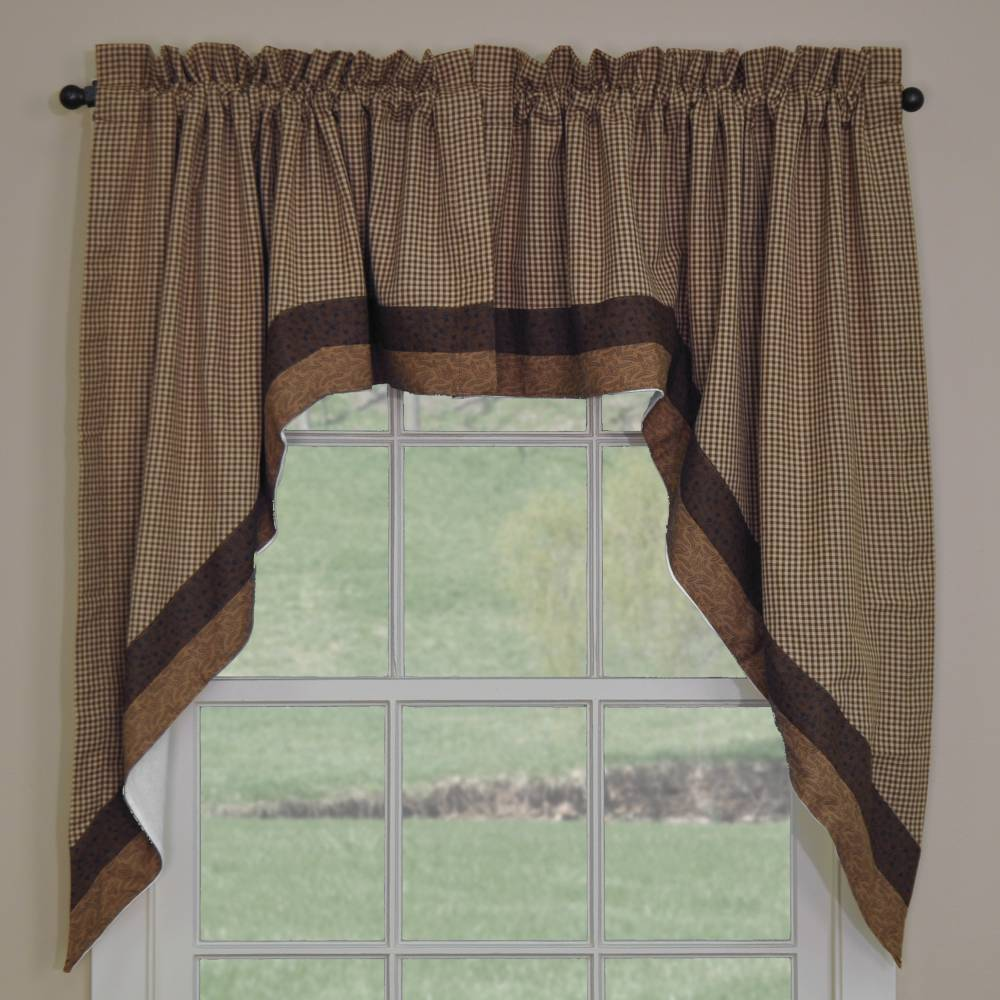 Country Swag Curtains Shades Of Brown Swags 72 Quot X 36 Quot