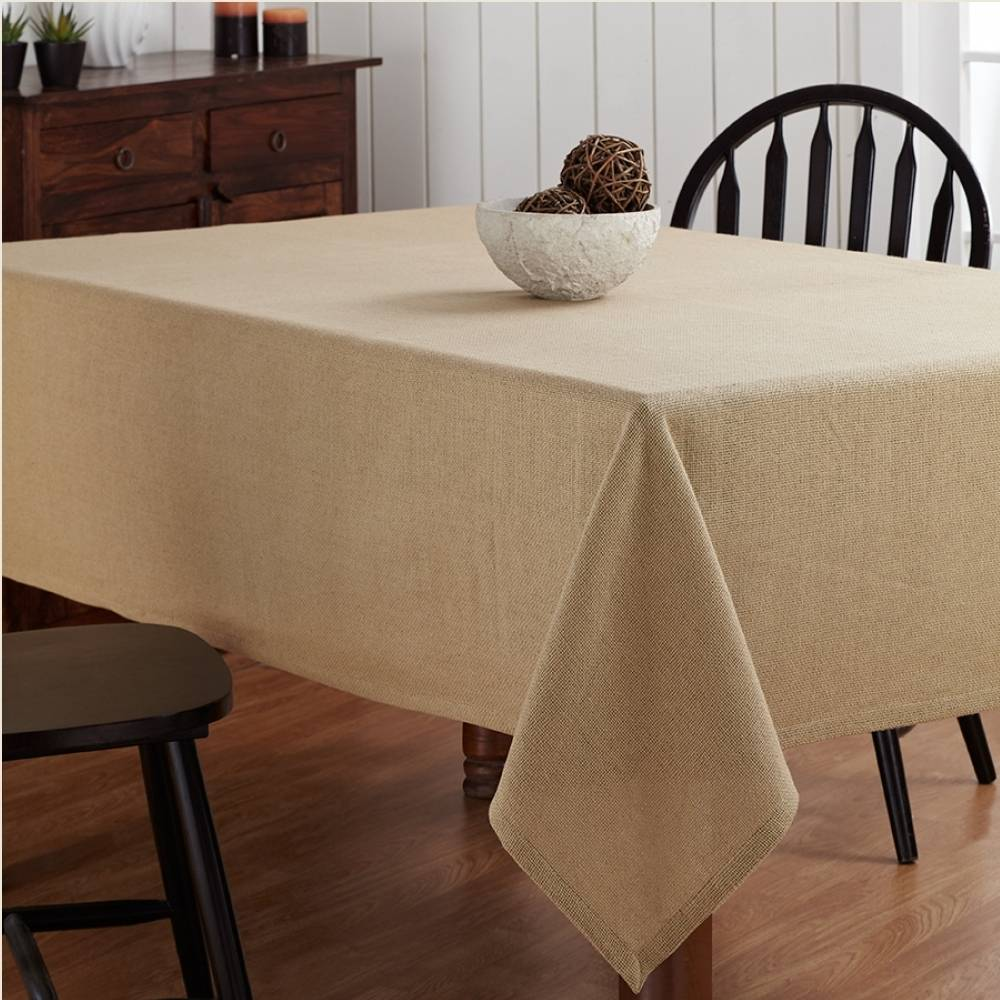 home interiors picture burlap table cloth 60 quot x 102 quot piper classics 12342