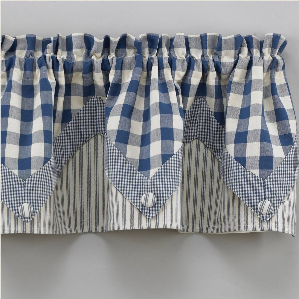 York Country Blue Point Valance