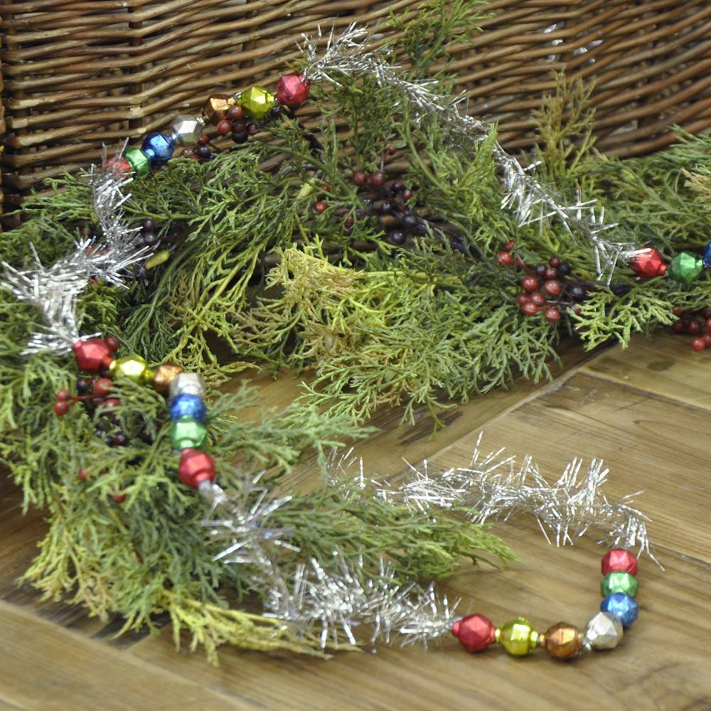 Colorful bead tinsel garland piper classics