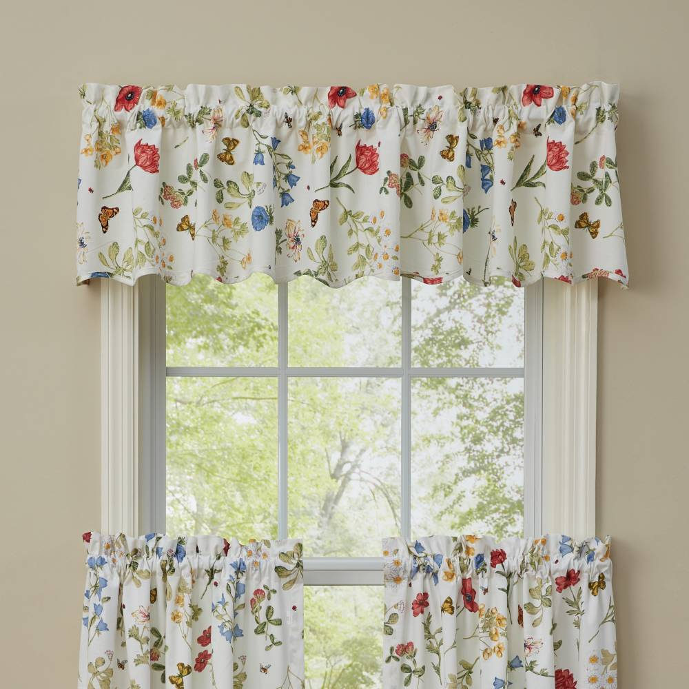 Country Valance Curtains Wildflower Scalloped Valance