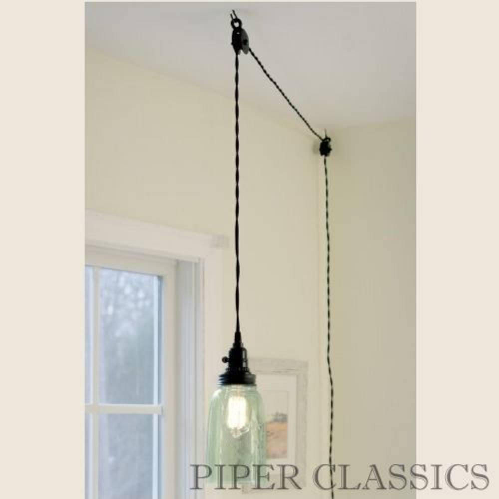 Ceiling Lighting No Wiring Block And Schematic Diagrams Kitchen Light Switch Mason Jar Pendant Lamp Half Gallon Piper Classics Rh Piperclassics Com