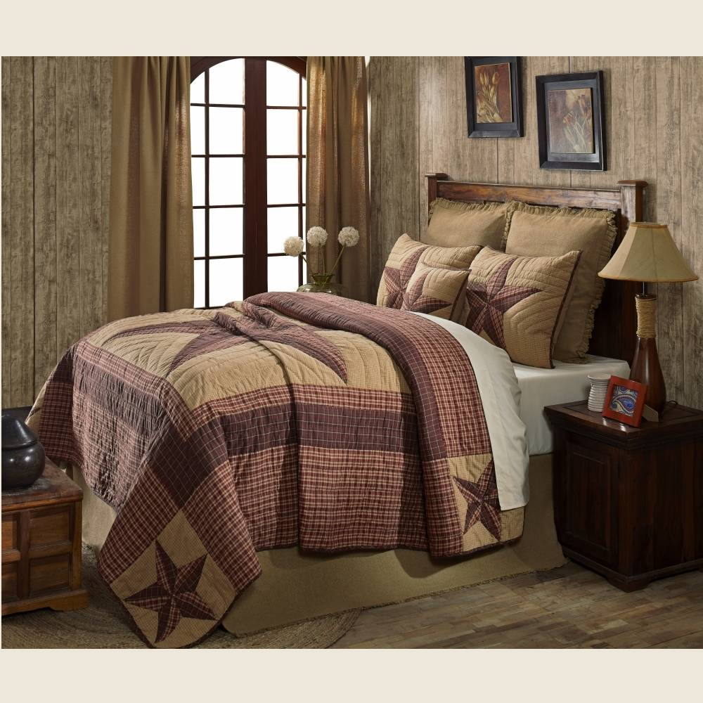by quilted quilt sharp campfire donna red sets bedding