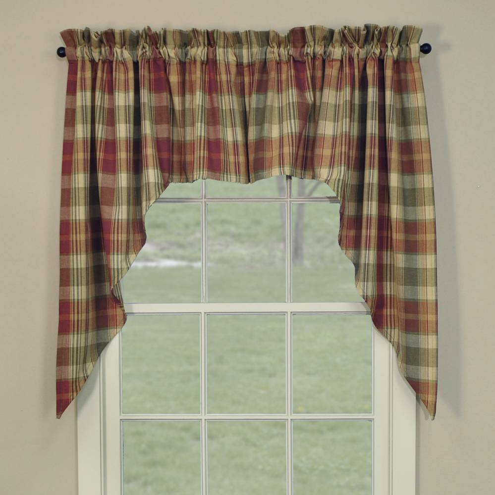 "Rosemary Linen Kitchen Curtain Swag: Saffron Swags 72"" X 36"""