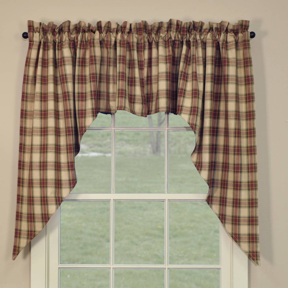and valances curtains for kitchen check of inspirations display shower swag scallop photos primitive living size charm black collection room bjs curtain amazon full country on