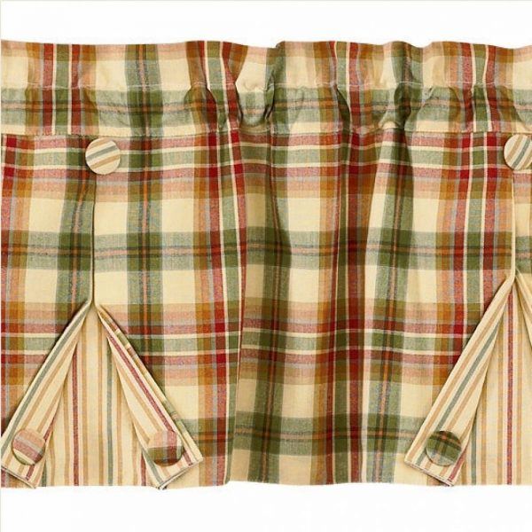 Country Pleated Valance Curtains Lemon Pepper 60 Quot X 14 Quot