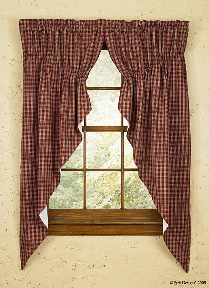 philmont prairie curtains swags curtain gathered home country jacquard