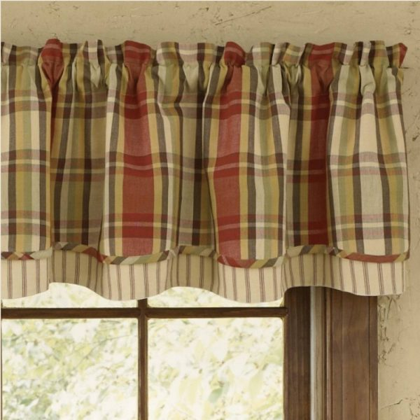 Country Layered Valance Curtains
