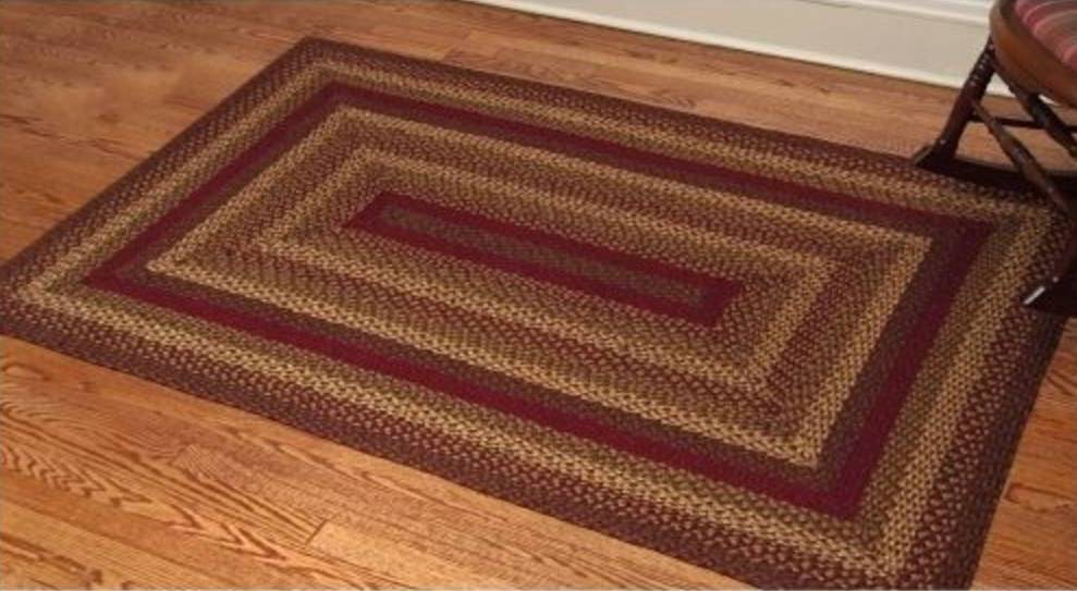 Country Style Braided Jute Rugs Cinnamon