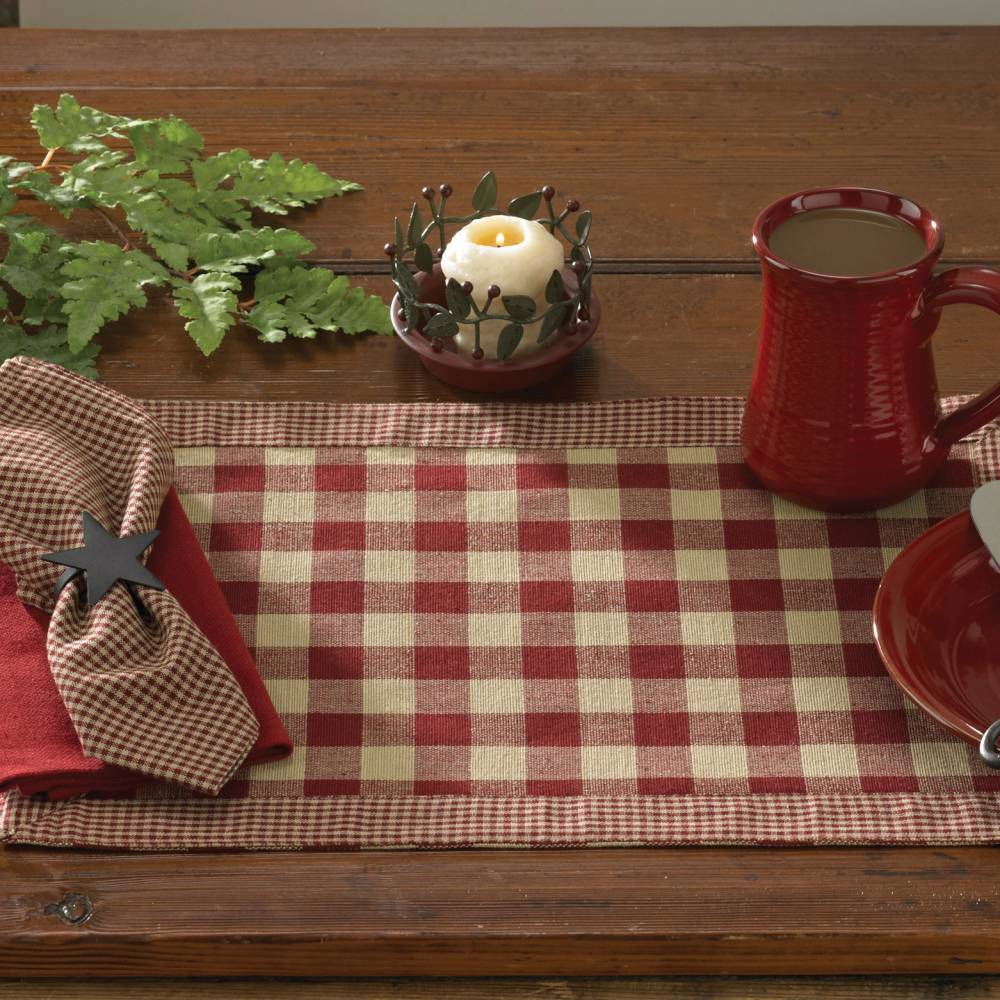 York Wine Red Placemats
