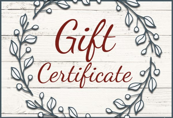 gift certificate blue