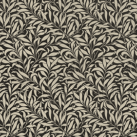 25958 Morris and Co Willow Bough Charcoal and Linen