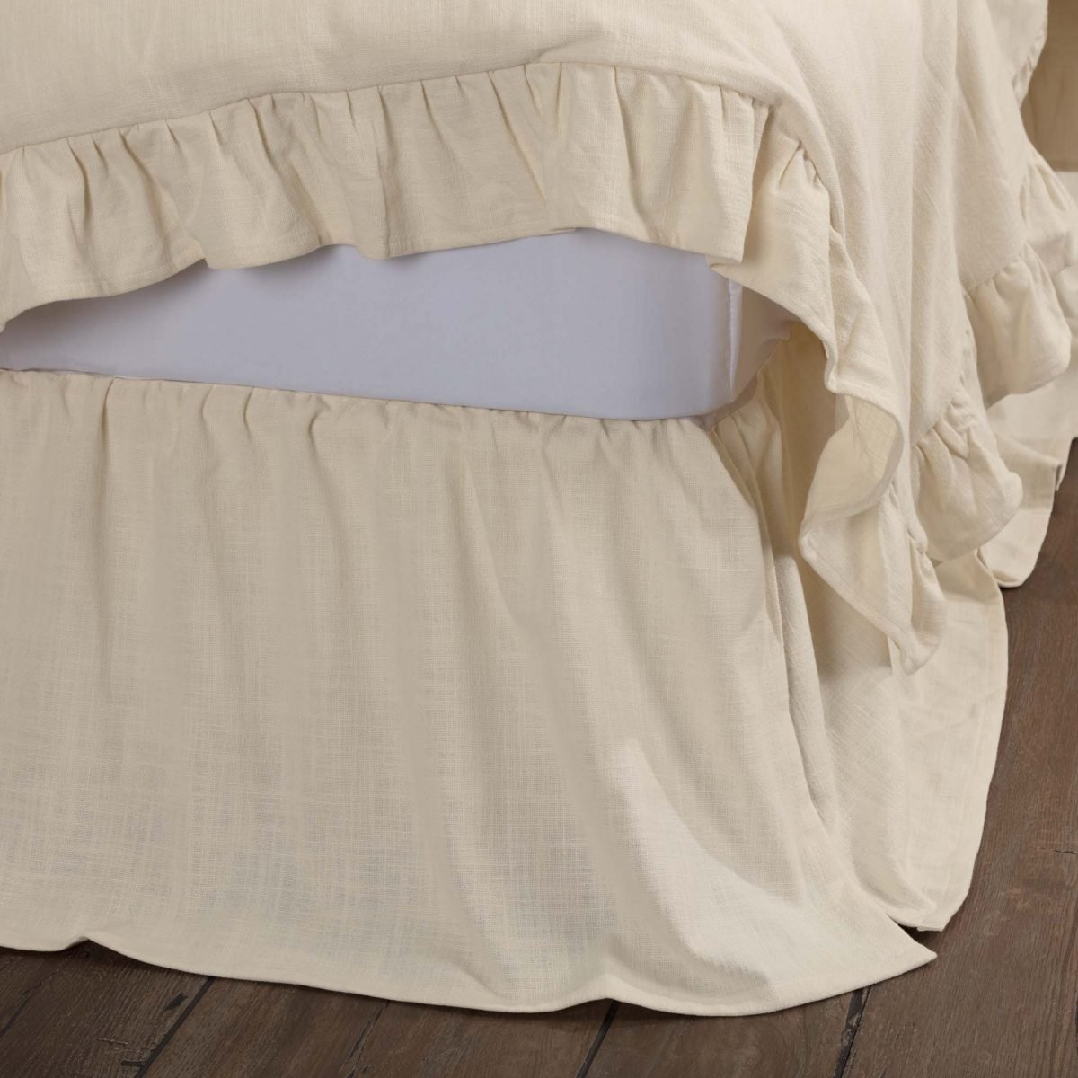 Farmhouse Style King Size Bed Skirt Rustic Bed Skirts With Ruffles