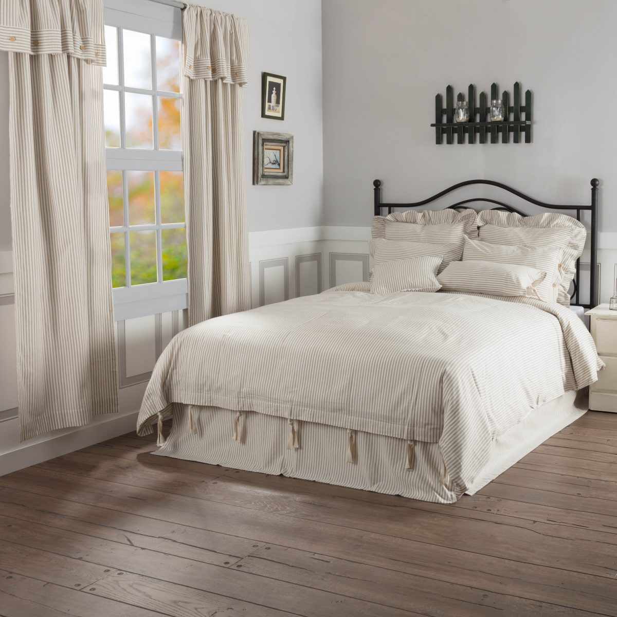 Farmhouse Ticking Taupe Duvet Cover  Queen  Piper Classics. Granite Plus. Privacy Wall. Solar Tube. Yellow River Granite. Trends In Tile. Faded Oriental Rug. Large Coffee Tables. Patio Under Deck