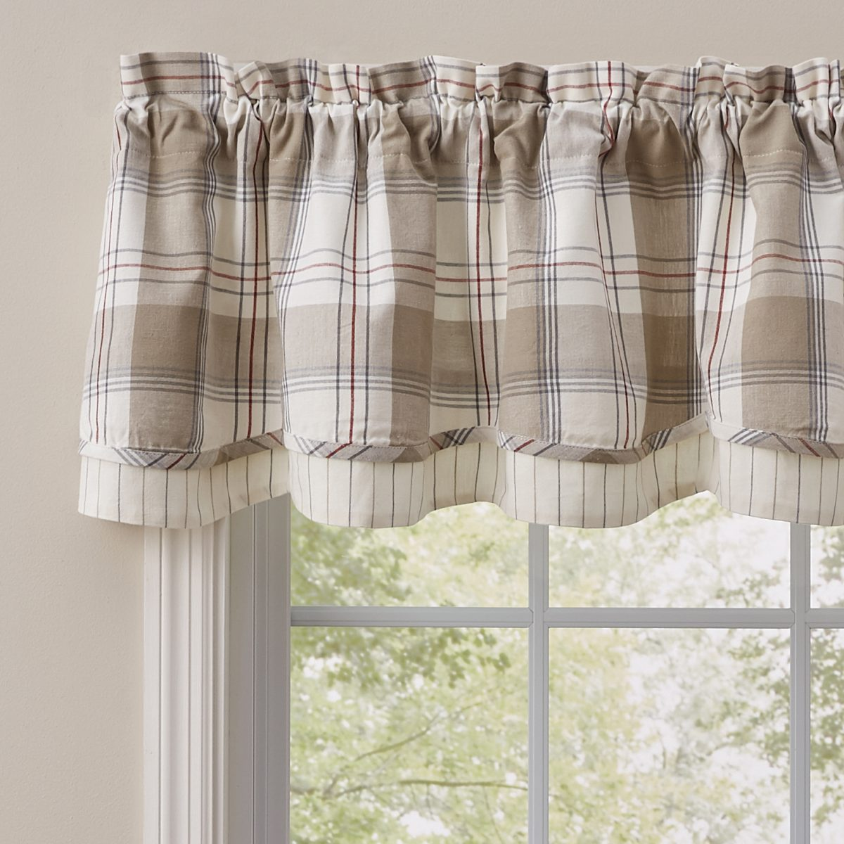 Landen Lined Layered Valance Piper Classics