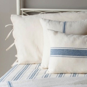 Grain Sack Blue Stripe Pillow Cover Piper Classics