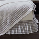 Annie Buffalo Grey Bed Skirt