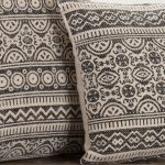 723_JANDB_GraphicGray_PrintedPillow_18x18_14x18_Lifestyle1 close up