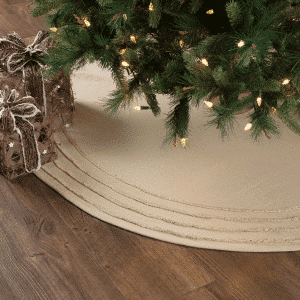 burlap vintage tree skirt - Burlap Christmas Decorations For Sale