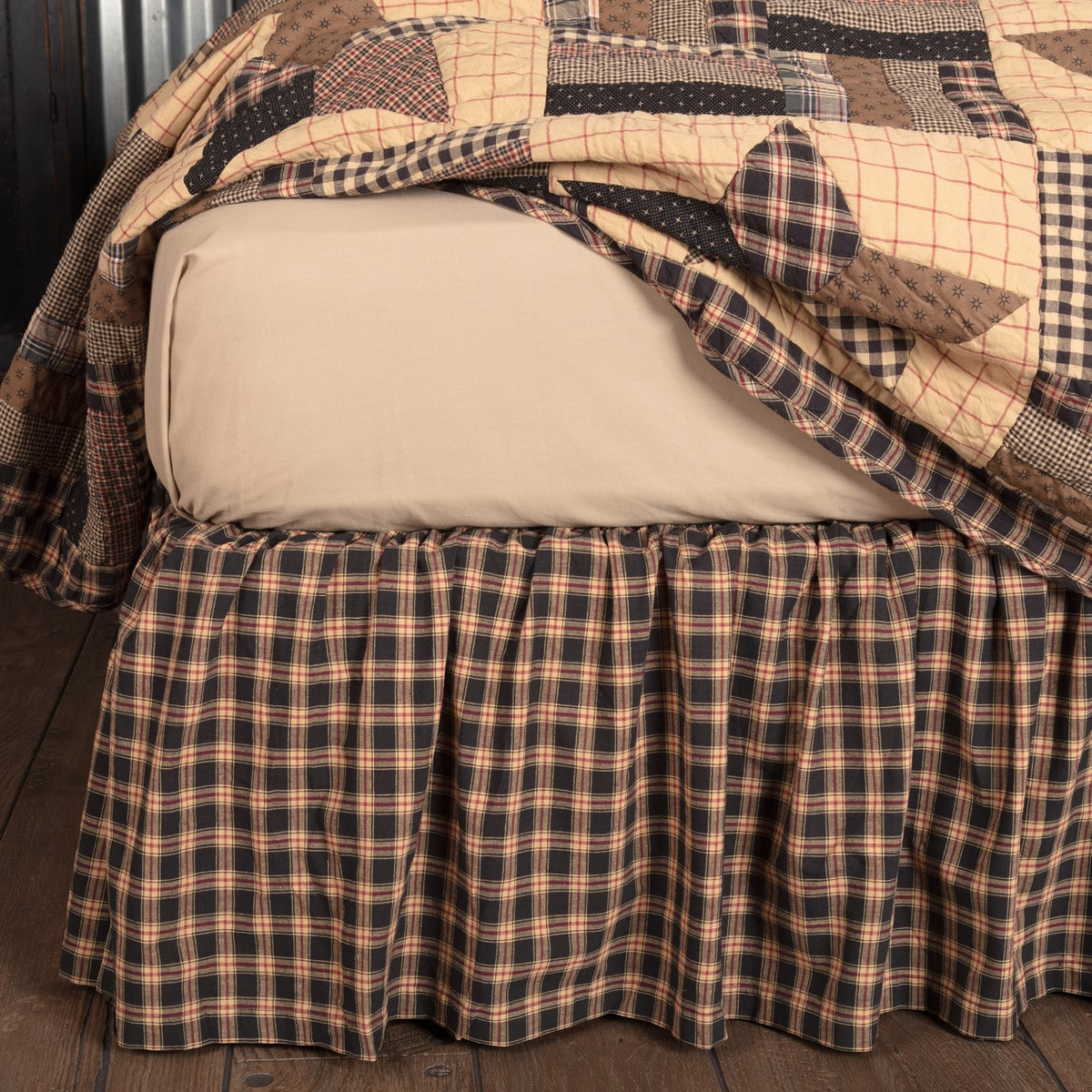 Bingham Star Bed Skirt Special Order Country Style Quilt