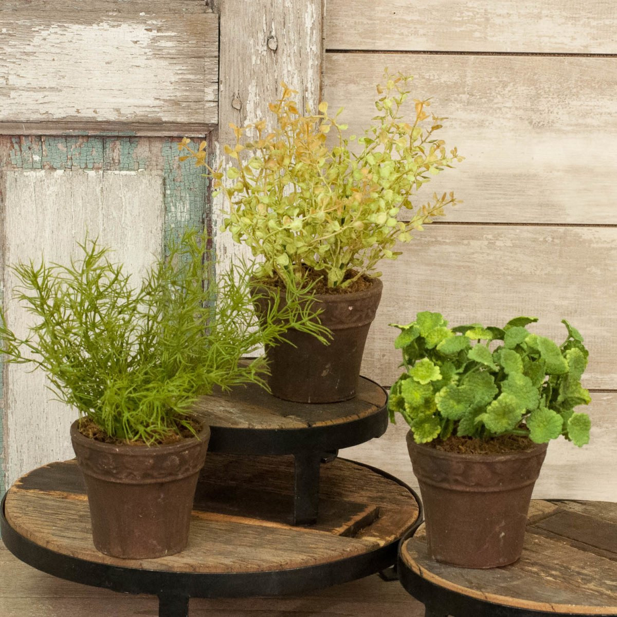 Faux Herb Pots Set 3 Piper Classics